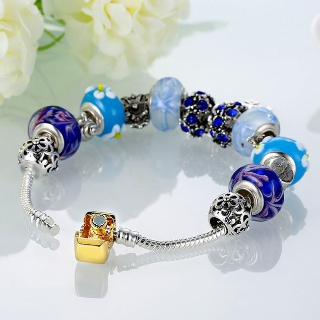 Royal Blue Star of David Designer Inspired Bracelet