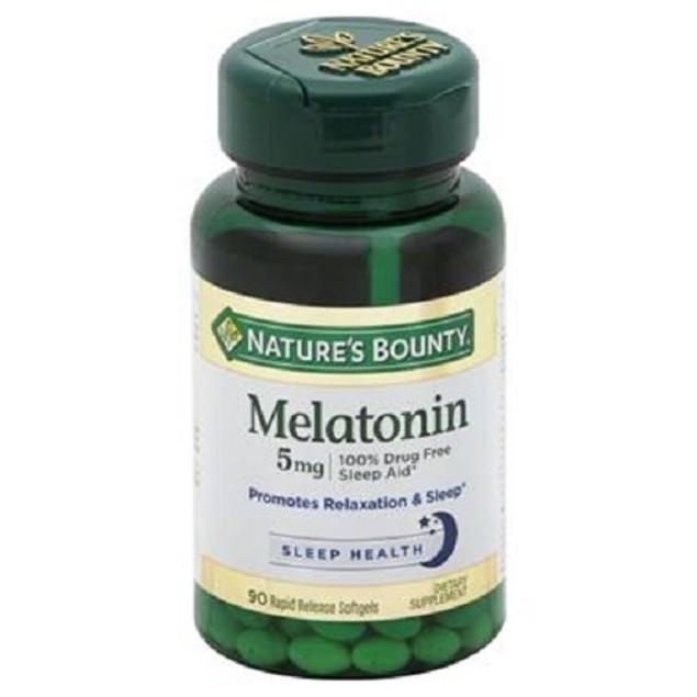 Nature's Bounty Melatonin 5 mg Super Strength Softgel