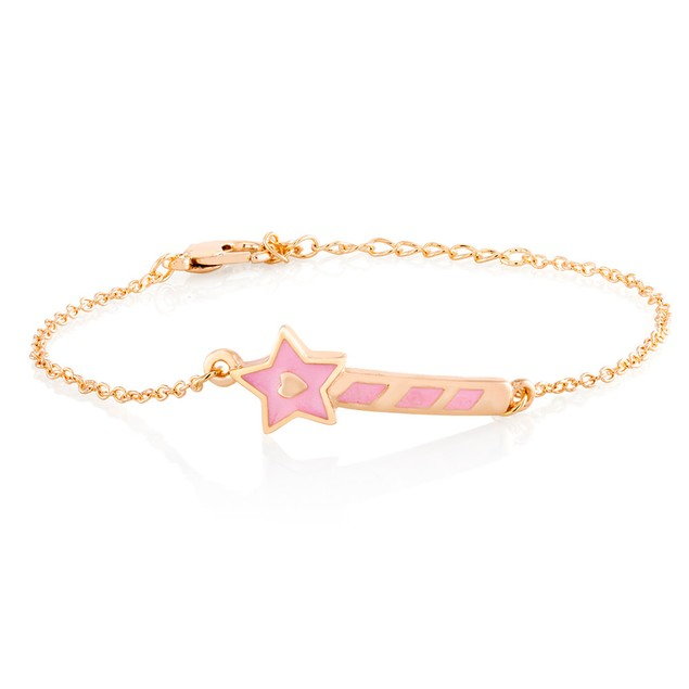 Kids Gold Plated Magic Wand Enamel Bracelet