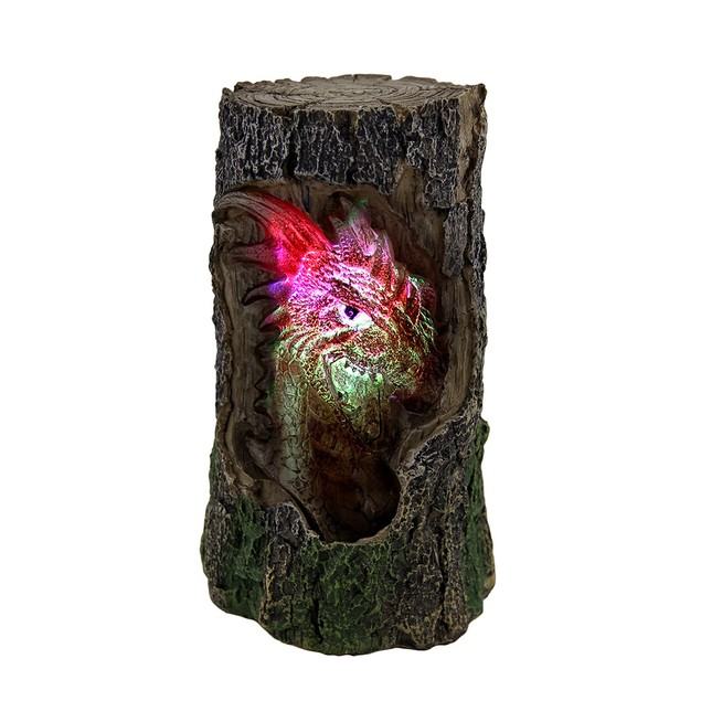 Dragon Log Accent Lamp W/Color Changing Led Lights Accent Lamps