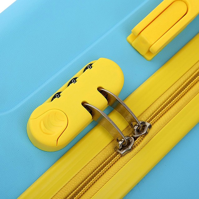 Two-Tone PP Thick-Ribbed Expandable Suitcase Set - Varied Colors