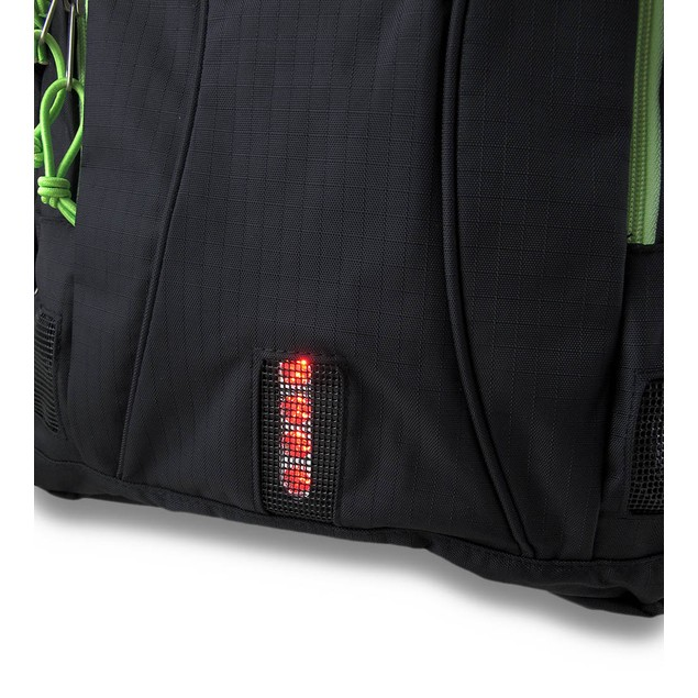 Urban Crew Laptop Backpack Color: Black/Green Basic Multipurpose Backpacks