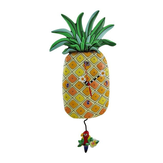Allen Designs Pineapple Time Parrot Pendulum Wall Wall Clocks