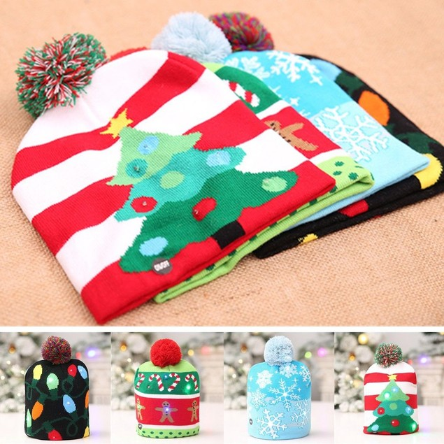 LED Holiday Beanie- 4 Styles