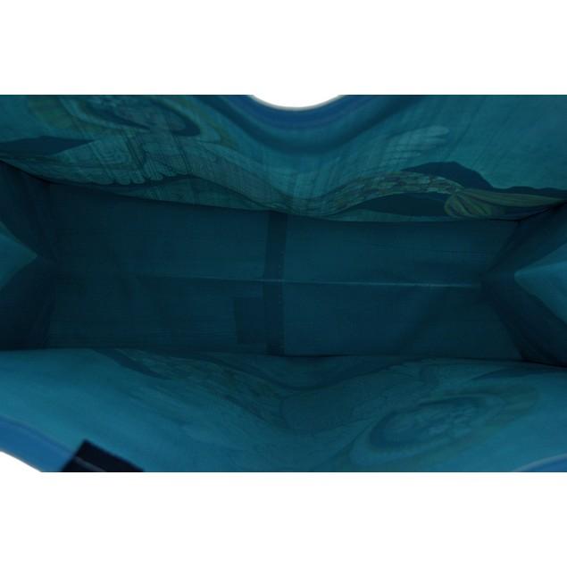 Allen Designs Blue Mermaid Angel Durable Coated Womens Tote Bags