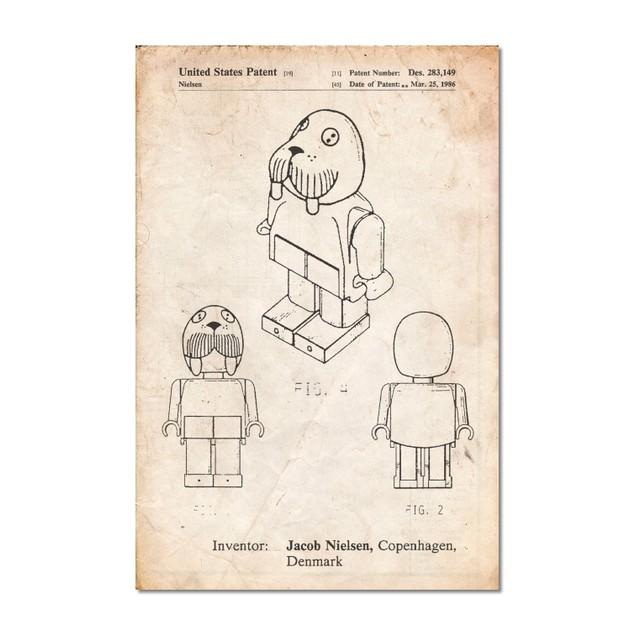 Lego Walrus Poster