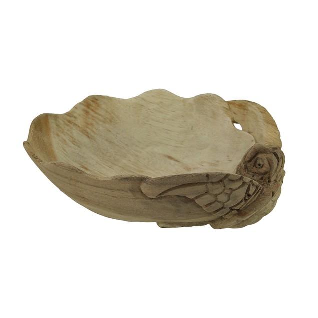 Decorative Wooden Sea Turtle Seashell Bowl Decorative Bowls