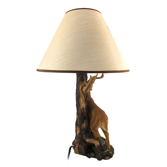 `Champion` 12 Point Buck Table Lamp W/ Printed Table Lamps