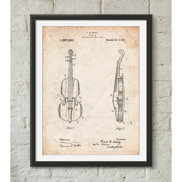 Violin Patent Poster