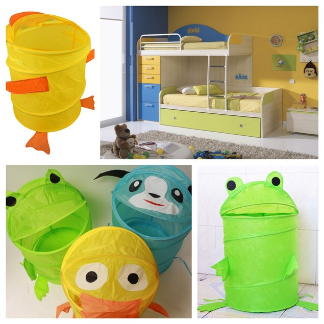 Adorable Kids Pop Up Basket Organizers - Assorted Styles