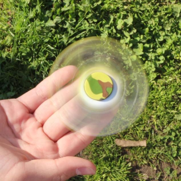 2-Pack Printed Tri-Spinner Fidgets Anti Stress Sensory Fidget Spinner