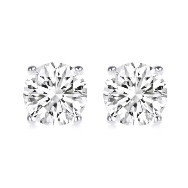 2-Piece Sterling Silver Swarovski Earrings Set