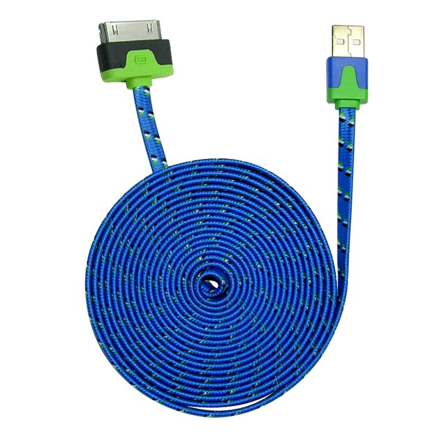 3-Pack: iCover 10ft Flat Shoelace Cable - 30 Pin