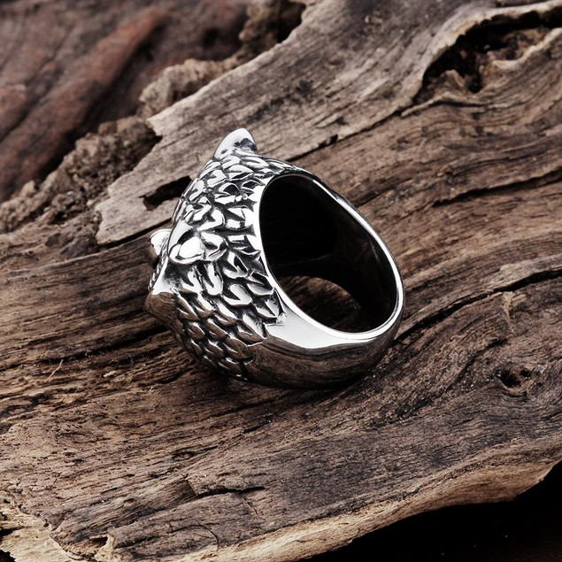 Canadian Owl's Stainless Steel Ring