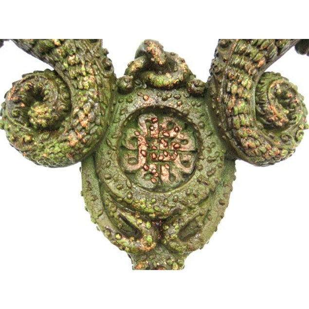 Pair Of Beautiful Green Dragon Twin Taper Candle Candleholders