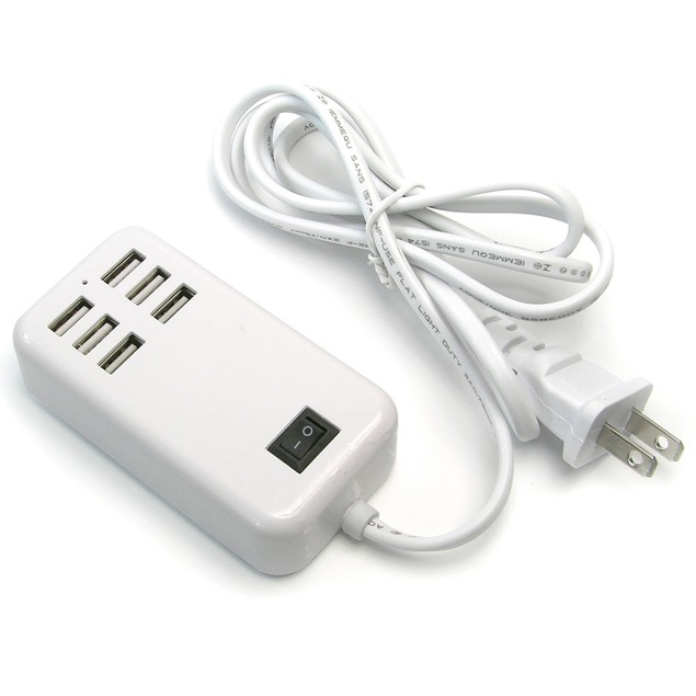 6-Port 30W USB Desktop Charger