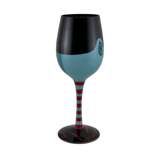 This Blood's For You Hand Painted Vampire Wine Wine Glasses