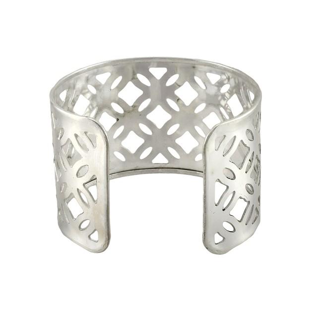 Chrome Cutwork Cuff Bracelet Womens Cuff Bracelets