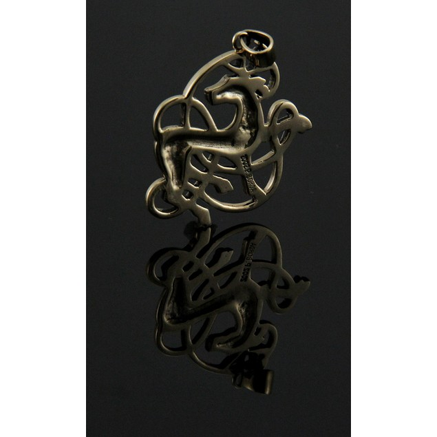 Solid Bronze Celtic Knot Stag Pendant Individual Pendants