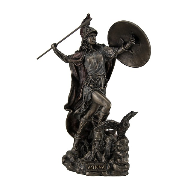 Athena Greek Goddess Of Wisdom & War Throwing Statues