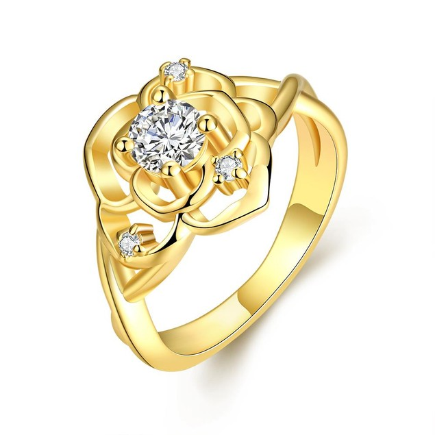 Gold Plated Blossoming Floral Ring