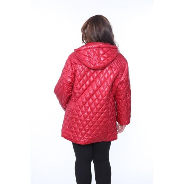 Plus Size White Mark Women's Puffer Coat (1X-3X)