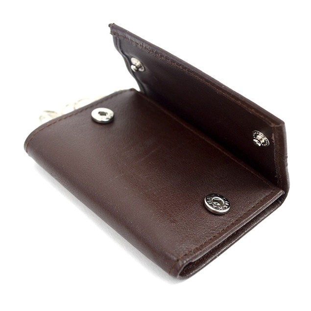 Genuine Leather Key Case Tri-Fold Wallets