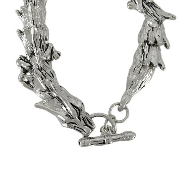 Chrome Plated Dragon Link Toggle Clasp Bracelet Mens Chain Bracelets
