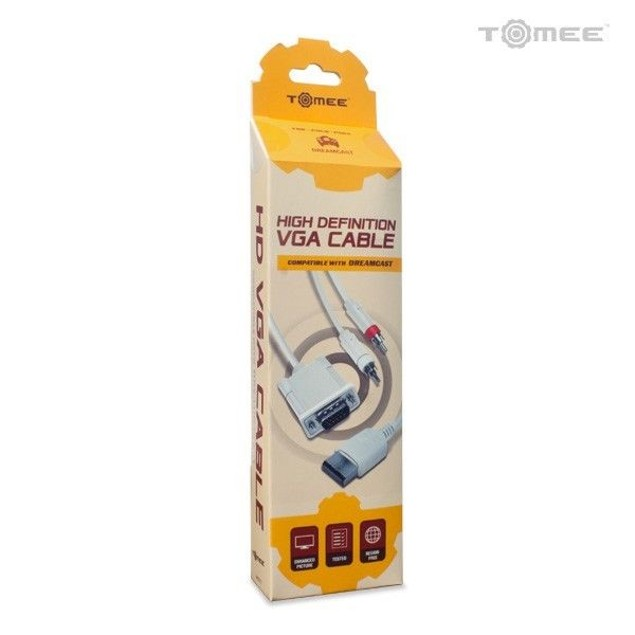 Sega Dreamcast High Definition VGA Cable w/ RCA Sound Adapter