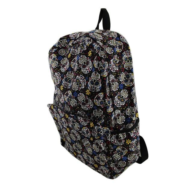 Day Of The Dead Sugar Skulls Canvas Backpack Basic Multipurpose Backpacks