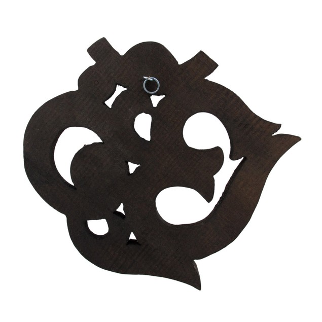 Stained Wooden Om Symbol Wall Plaque Decorative Plaques