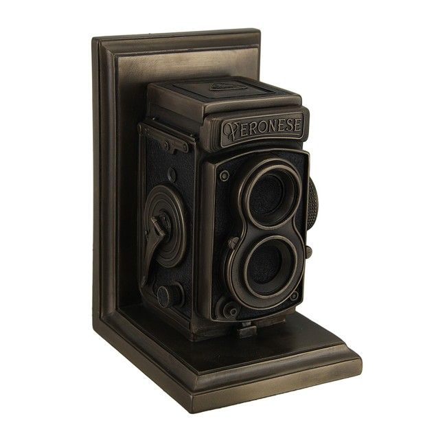 Vintage Tlr Camera Decorative Bronze Finish Single Statues