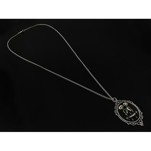 Two Headed Skeleton Cameo Necklace `Sempre Et Pendant Necklaces
