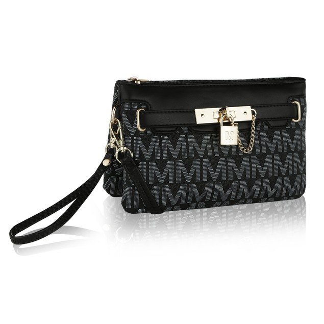 "MKF Collection Carissa ""M"" Signature Cross Body Wristlet by Mia K. Farrow"