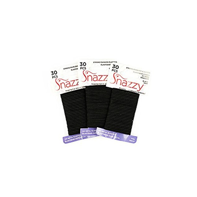 Snazzy Hair Elastics Thick & Long Painless Pony Tail Holders