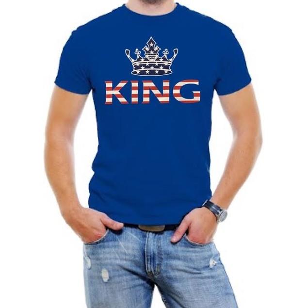 King USA Flag Men Graphic T-Shirt