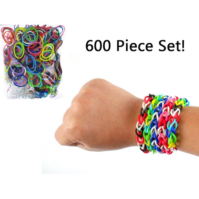 600-Piece Loom Rubber Band Set