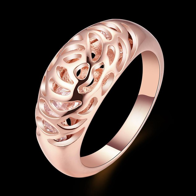 Rose Gold Plated Imprint Ring