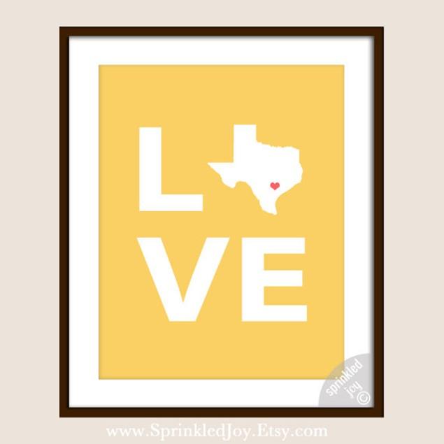 State Love Customizable 8x10 Print