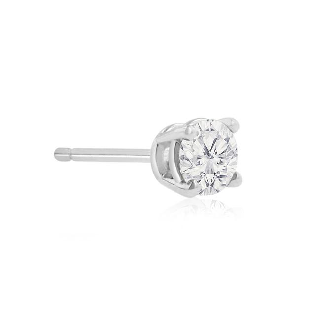 10k White Gold 1/2 Carat Genuine Diamond Stud Earrings