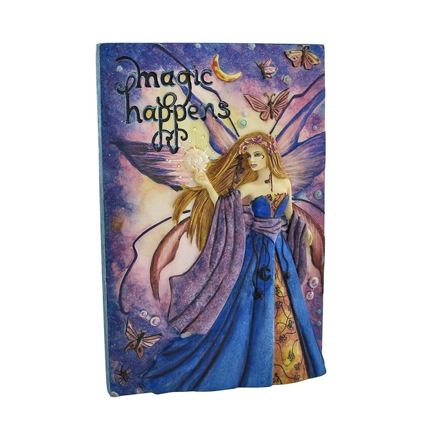 Jessica Galbreth `Magic Happens` Fairy Wall Plaque Decorative Plaques