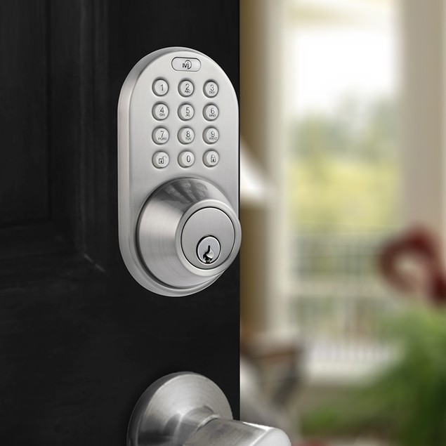 MiLocks Satin Nickel Finish Keyless Entry Deadbolt Door Lock