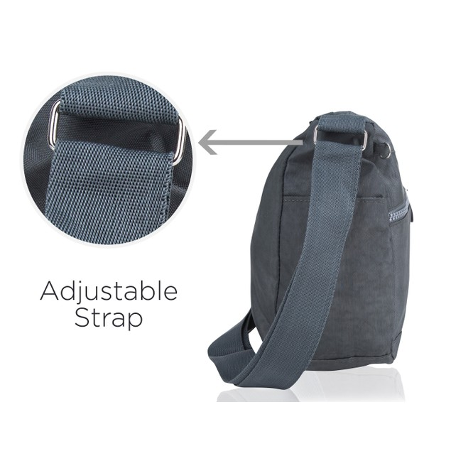 Suvelle Nylon Water-Resistant Crossbody Bag