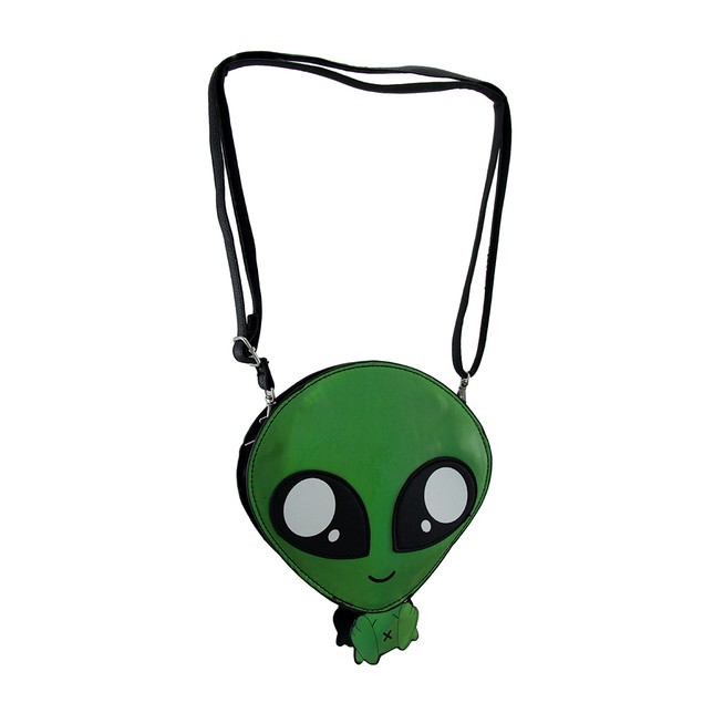 Sleepyville Critters Green Baby Alien Crossbody Womens Cross Body Bags