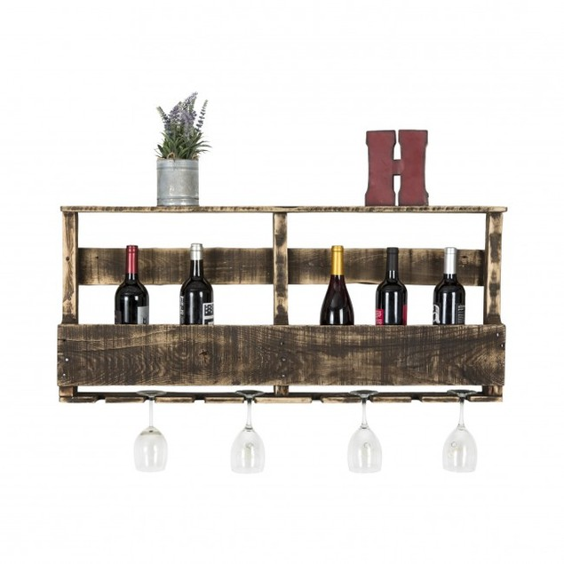 Original Series - Rustic Wine and Glass Rack Large