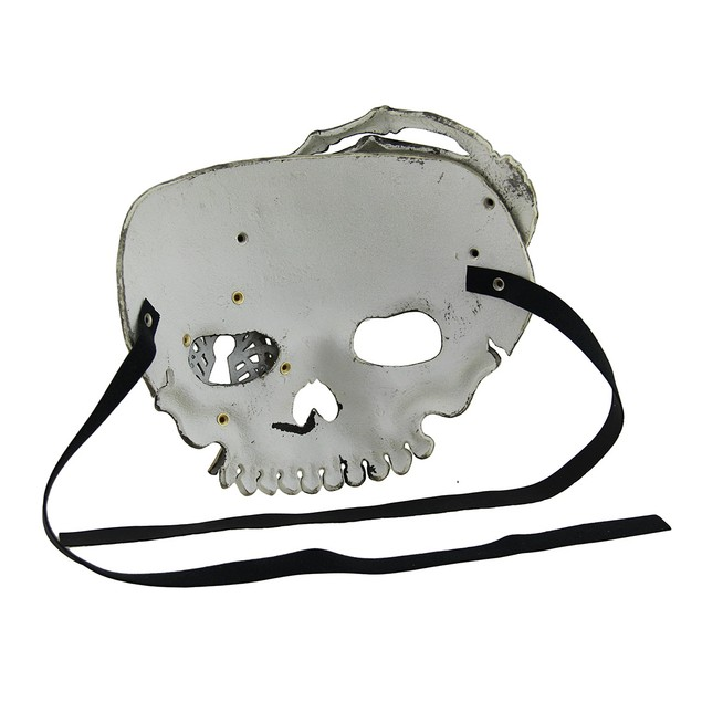 Beige Steampunk Pirate Skull W/Skeletal Hand Adult Mens Costume Masks