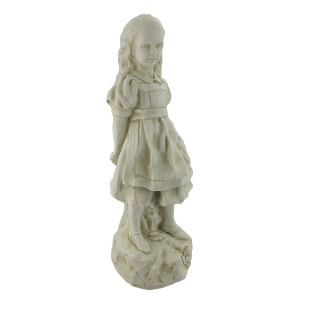 19 Inch Alice In Wonderland Museum White Garden Outdoor Statues