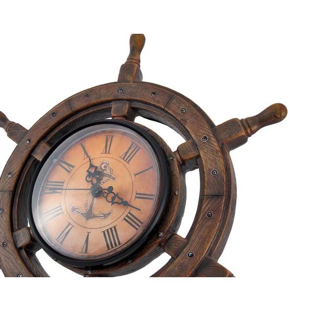 Master Of Destiny Ship`S Wheel Nautical Wall Clock Wall Clocks
