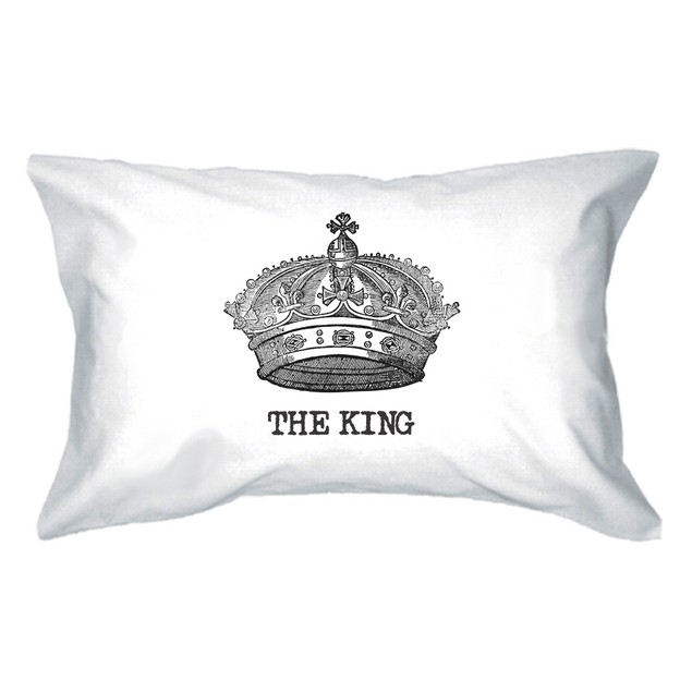 King and Queen Crown Couple Pillowcase