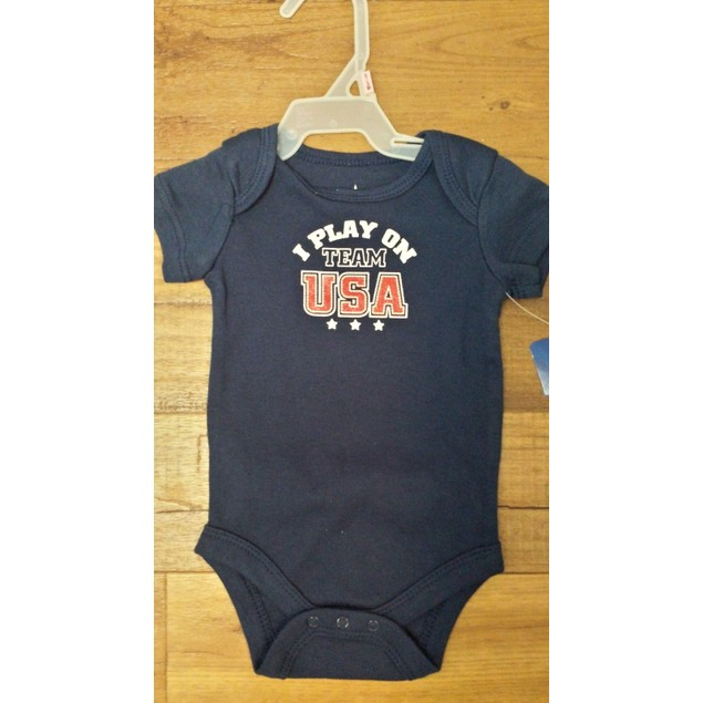 "Baby Creeper ""I Play On Team USA"" New With Tags"